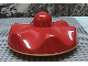 Part No: 31011c01  Name: Primo Stacking Base Round Wavy Large, One Top Stud, Rattle with Yellow Base