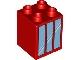 Part No: 31110pb020  Name: Duplo, Brick 2 x 2 x 2 with Window 3 Pane Pattern (3597)
