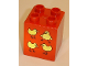 Part No: 31110pb034  Name: Duplo, Brick 2 x 2 x 2 with Four Birds Pattern