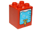 Part No: 31110pb103  Name: Duplo, Brick 2 x 2 x 2 with Water Cooler with Tap Pattern