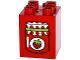 Part No: 31110pb115  Name: Duplo, Brick 2 x 2 x 2 with Strawberry Jam Jar Pattern