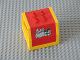 Part No: 31304c01pb01  Name: Duplo, Train Freight Container with Mail Bag and Box Pattern with Yellow Container Frame