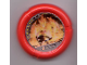 Part No: 32171pb011  Name: Throwbot Disk, Torch / Fire, 6 pips, facing fire creature Pattern