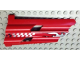 Part No: 32188pb04  Name: Technic, Panel Fairing # 3 Large Long, Large Holes, Side A with Silver Flames Pattern (Sticker) - Set 8279