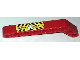 Part No: 32271pb018  Name: Technic, Liftarm 1 x 9 Bent (7 - 3) Thick with 'DANGER' and White Hazard Triangle with Black and Yellow Stripes Pattern (Sticker) - Set 8283