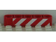 Part No: 32316pb012L  Name: Technic, Liftarm 1 x 5 Thick with Red and White Danger Stripes Pattern Model Left Side (Sticker) - Set 8109