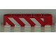 Part No: 32316pb012R  Name: Technic, Liftarm 1 x 5 Thick with Red and White Danger Stripes Pattern Model Right Side (Sticker) - Set 8109