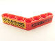 Part No: 32348pb006L  Name: Technic, Liftarm 1 x 7 Bent (4 - 4) Thick with 'RACING' and 'KEY TEXS' Pattern (Stickers) - Sets 8041/42041