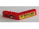 Part No: 32348pb006R  Name: Technic, Liftarm 1 x 7 Bent (4 - 4) Thick with 'GEAR UP' and 'RACING' Pattern (Stickers) - Sets 8041/42041