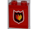 Part No: 3245bpb29  Name: Brick 1 x 2 x 2 with Inside Axle Holder with Fire Logo Badge Small Pattern (Sticker) - Set 7213