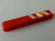 Part No: 32524pb020R  Name: Technic, Liftarm 1 x 7 Thick with Red and 3 White Danger Stripes on Upper Half Pattern Model Right Side (Sticker) - Set 8289