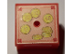 Part No: 33031pb10  Name: Container, Box 3.5 x 3.5 x 1.3 with Hinged Lid with Coins Pattern (Sticker) - Set 3116