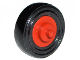 Part No: 3464c01  Name: Wheel Center Small with Stub Axles (Pulley Wheel), with Black Tire 14mm D. x 4mm Smooth Small Single (3464 / 3139)