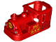 Part No: 36075pb01  Name: Duplo, Train Steam Engine Cabin 4 x 8 x 3 1/2 with Yellow No. 925 Pattern