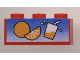 Part No: 3622pb009  Name: Brick 1 x 3 with Orange and Juice Glass Pattern (Sticker) - Set 6561