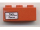 Part No: 3622pb015L  Name: Brick 1 x 3 with 'Paris - Roma' Pattern on Left Side (Sticker) - Set 7745