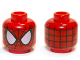 Part No: 3626bpb0786  Name: Minifig, Head Alien with Spider-Man Black Web and Large White Eyes Pattern - Blocked Open Stud