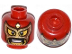 Part No: 3626cpb1069  Name: Minifigure, Head Balaclava with Eye and Mouth Holes, Gold Mask, Drooping Moustache and Stubble Pattern - Hollow Stud