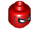 Part No: 3626cpb1686  Name: Minifig, Head Alien with Spider-Man Black Web and Small White Eyes Pattern - Stud Recessed