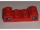 Part No: 3788pb01  Name: Vehicle, Mudguard 2 x 4 with Arch Studded and Taillights Pattern (Stickers) - Set 8195
