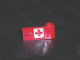Part No: 3821pb007  Name: Door 1 x 3 x 1 Right with Red Cross Pattern on White Background (Sticker)