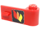 Part No: 3821pb013  Name: Door 1 x 3 x 1 Right with Classic Fire Logo Pattern (Sticker)