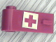 Part No: 3822pb007  Name: Door 1 x 3 x 1 Left with Red Cross Pattern on White Background (Sticker)
