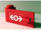 Part No: 3822pb015  Name: Door 1 x 3 x 1 Left with Train Logo White on Clear Background Pattern (Sticker) - Set 4549