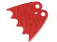 Part No: 39444  Name: Minifigure, Cape Cloth, Scalloped 5 Points (Batman), Tear-Drop Neck Cut - Spongy Stretchable Fabric