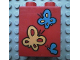Part No: 4066pb041  Name: Duplo, Brick 1 x 2 x 2 with Butterflies Pattern