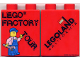 Part No: 4066pb212  Name: Duplo, Brick 1 x 2 x 2 with Factory Tour with Minifigure Holding Wrench Pattern
