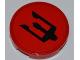 Part No: 4150pb093  Name: Tile, Round 2 x 2 with Black Atlantis Trident Pattern (Sticker)