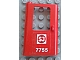 Part No: 4181pb046  Name: Door 1 x 4 x 5 Train Left with Swedish 'SJ 7755' Pattern (Sticker) - Set 7755