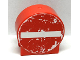 Part No: 41970pb15  Name: Duplo, Brick 1 x 3 x 2 Round Top Road Sign with No Entry / Thoroughfare Pattern (Sticker) - Set 9211