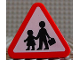 Part No: 42025pb02  Name: Duplo, Brick 1 x 3 x 2 Triangle Road Sign with Pedestrian Crossing Warning Pattern