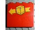 Part No: 4215pb015  Name: Panel 1 x 4 x 3 with Box and Arrow Left Pattern (Sticker) - Set 6624