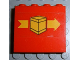 Part No: 4215pb016  Name: Panel 1 x 4 x 3 with Box and Arrow Right Pattern (Sticker) - Set 6624