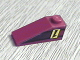 Part No: 4286pb003  Name: Slope 33 3 x 1 with Upside-down Black Number 1 on Yellow Rectangle Pattern Model Right (Sticker) - Set 8209
