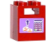 Part No: 4345pb03  Name: Container, Box 2 x 2 x 2 with Coins, Arrow and Keypad Pattern (Sticker) - Set 41099