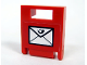 Part No: 4346pb10  Name: Container, Box 2 x 2 x 2 Door with Slot and Mail Envelope Pattern (Sticker) - Set 7731