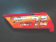 Part No: 44351pb008  Name: Technic, Panel Fairing #21 Large Long, Small Hole, Side B with Chrome '72' and Racing Logos on Orange and Yellow Pattern (Sticker) - Set 8146