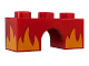 Part No: 4490pb13  Name: Brick, Arch 1 x 3 with Alternate Bright Light Orange Flames Pattern (Rage Kitty)