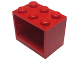 Part No: 4532a  Name: Container, Cupboard 2 x 3 x 2 - Solid Studs
