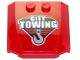 Part No: 45677pb099  Name: Wedge 4 x 4 x 2/3 Triple Curved with 'CITY TOWING' and Hook Pattern (Sticker) - Set 60137