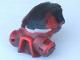 Part No: 47327pb01  Name: Bionicle Mask Kiril with Black Top (Dume)