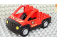 Part No: 47438c03pb01  Name: Duplo Truck Pickup Flatbed with Black Base with Fire Department Logo Pattern