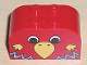 Part No: 4744pb03  Name: Brick, Modified 2 x 4 x 2 Double Curved Top with Parrot Head Pattern