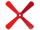 Part No: 4751b  Name: Propeller 4 Blade 13 Diameter with Studs