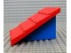 Part No: 4860c01  Name: Duplo Roofpiece Slope 30 4 x 4 Shingled with Blue Base