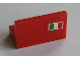Part No: 4865pb012R  Name: Panel 1 x 2 x 1 with Italian Flag on Red Background Pattern Model Right Side (Sticker) - Set 8654 / 8375 / 8673